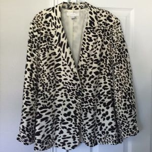 Chico's Animal Print Blazer
